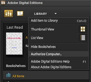 adobe digital editions account