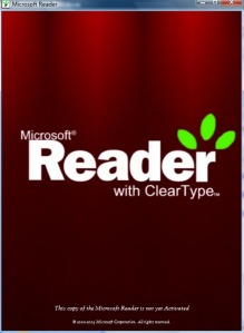 Microsoft Reader Loading Screen